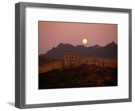 Moonrise over the Great Wall-Raymond Gehman-Framed Art Print