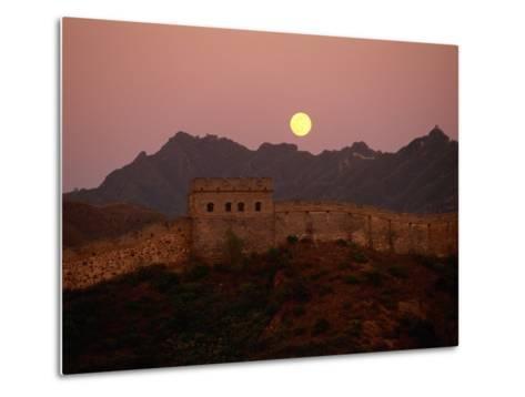 Moonrise over the Great Wall-Raymond Gehman-Metal Print