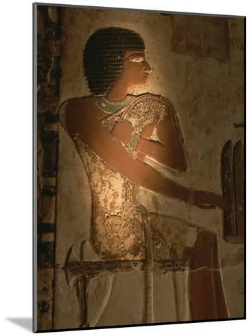 A Stone Relief Depicts a Member of Ancient Egyptian Royalty-Kenneth Garrett-Mounted Photographic Print