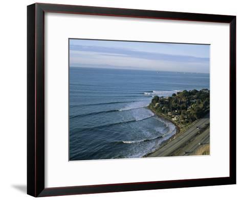 Epic Winter Surf Hitting Rincon Point-Rich Reid-Framed Art Print