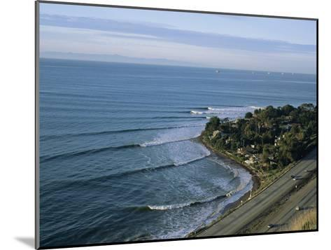 Epic Winter Surf Hitting Rincon Point-Rich Reid-Mounted Photographic Print