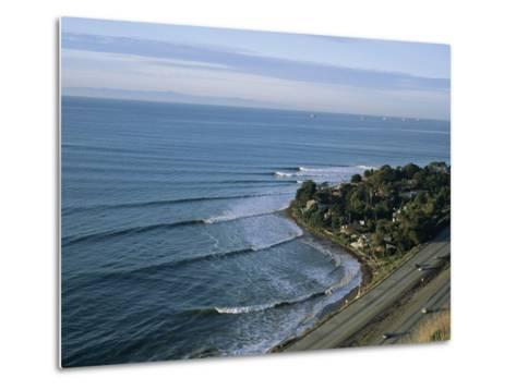 Epic Winter Surf Hitting Rincon Point-Rich Reid-Metal Print