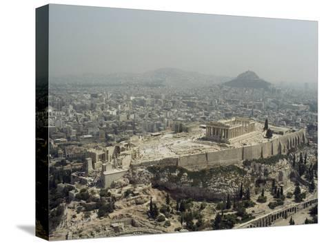 An Elevated View of the Parthenon, Temple of Athena-James P^ Blair-Stretched Canvas Print