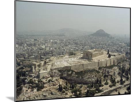 An Elevated View of the Parthenon, Temple of Athena-James P^ Blair-Mounted Photographic Print