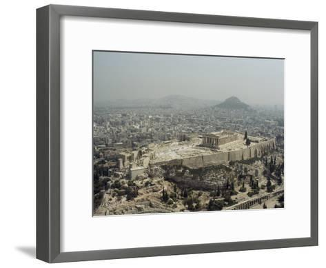 An Elevated View of the Parthenon, Temple of Athena-James P^ Blair-Framed Art Print