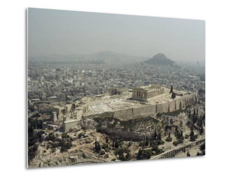 An Elevated View of the Parthenon, Temple of Athena-James P^ Blair-Metal Print