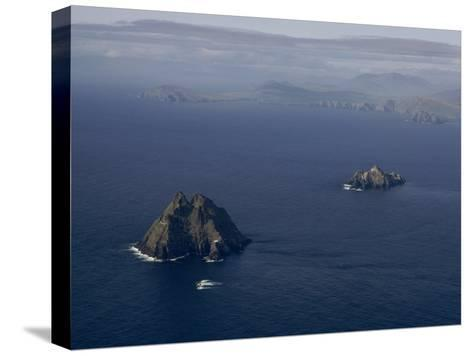 Aerial View of Great Skellig Michael and Little Skellig Island-James P^ Blair-Stretched Canvas Print