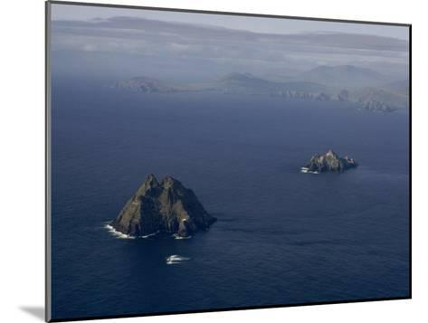 Aerial View of Great Skellig Michael and Little Skellig Island-James P^ Blair-Mounted Photographic Print