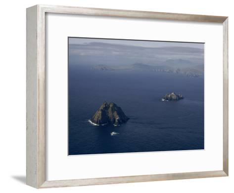Aerial View of Great Skellig Michael and Little Skellig Island-James P^ Blair-Framed Art Print