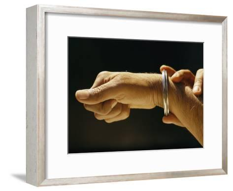 Indias Sikhs are Recognized by a Steel Bangle Worn on Their Wrist-James P^ Blair-Framed Art Print