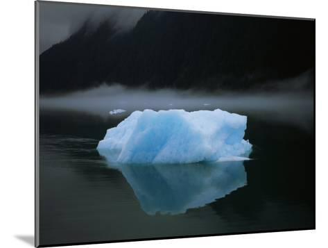 A Blue Iceberg and its Reflection in Calm Water-Ralph Lee Hopkins-Mounted Photographic Print