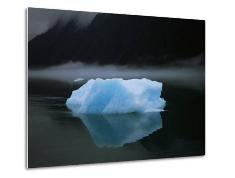 A Blue Iceberg and its Reflection in Calm Water-Ralph Lee Hopkins-Metal Print
