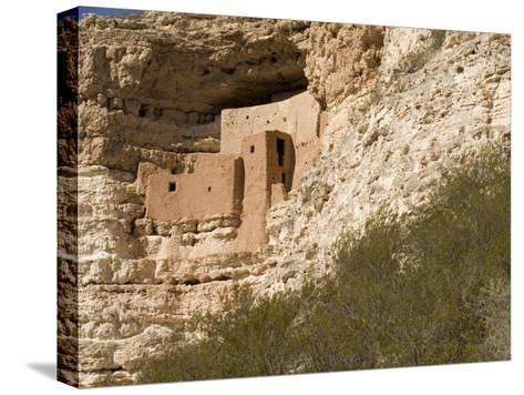 View of This Five-Story, Twenty-Room Cliff Dwelling near Flagstaff-Charles Kogod-Stretched Canvas Print