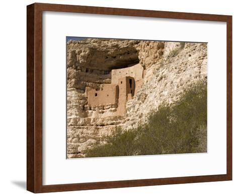 View of This Five-Story, Twenty-Room Cliff Dwelling near Flagstaff-Charles Kogod-Framed Art Print
