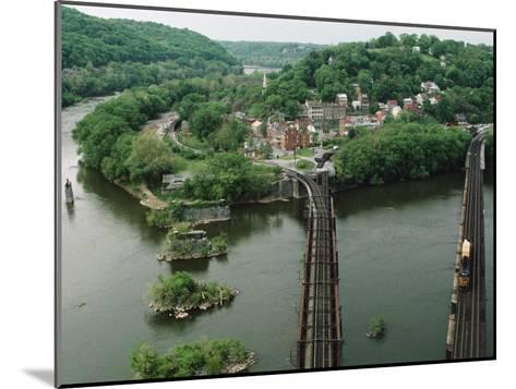 Bridges at the Confluence of the Potomac and Shenandoah Rivers-Joel Sartore-Mounted Photographic Print