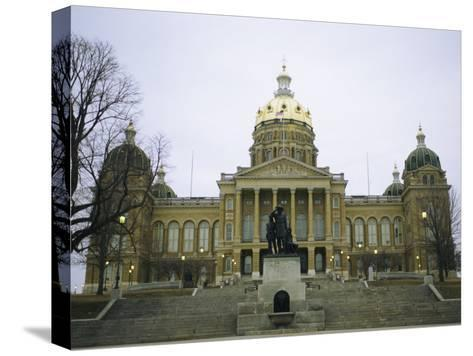 The Iowa State Capitol Building-Joel Sartore-Stretched Canvas Print