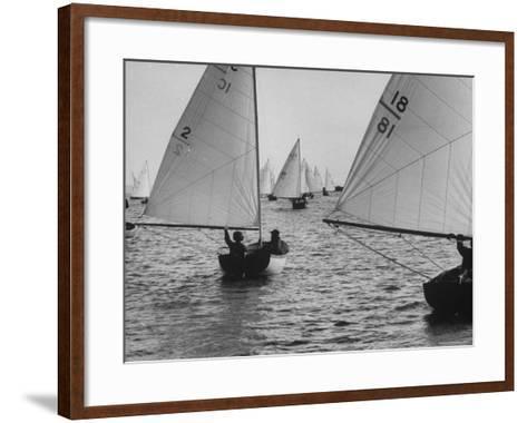 Frostbite Race-Grey Villet-Framed Art Print