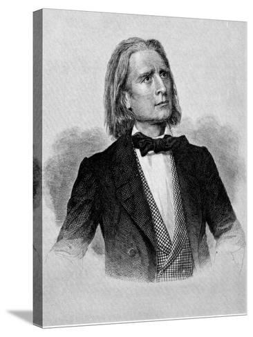 Illustration of Franz Liszt, Hungarian Composer and Pianist--Stretched Canvas Print