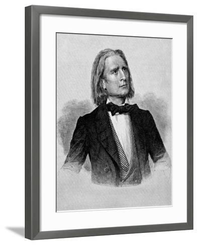 Illustration of Franz Liszt, Hungarian Composer and Pianist--Framed Art Print