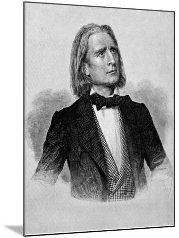 Illustration of Franz Liszt, Hungarian Composer and Pianist--Mounted Photographic Print