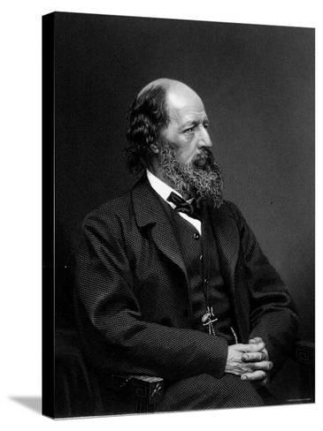 Engraving of Alfred Tennyson, English Poet--Stretched Canvas Print