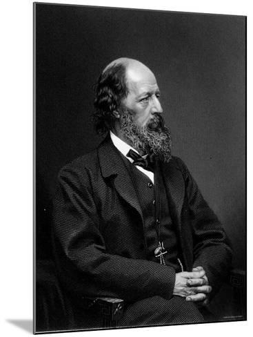 Engraving of Alfred Tennyson, English Poet--Mounted Photographic Print