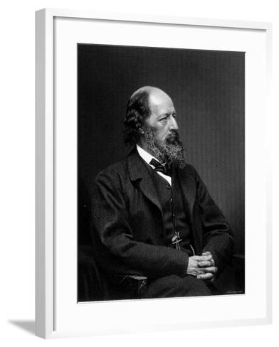 Engraving of Alfred Tennyson, English Poet--Framed Art Print