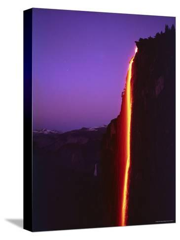 Firefall from Glacier Point at Yosemite National Park-Ralph Crane-Stretched Canvas Print
