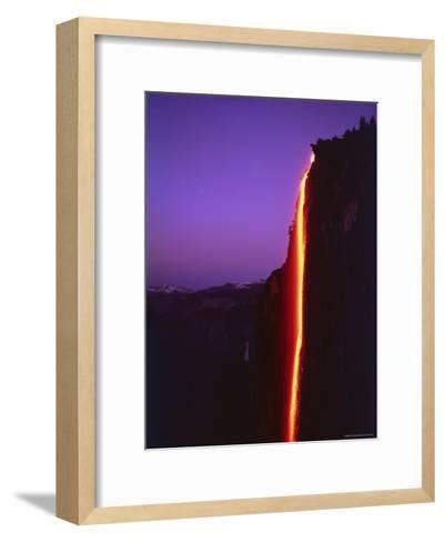 Firefall from Glacier Point at Yosemite National Park-Ralph Crane-Framed Art Print
