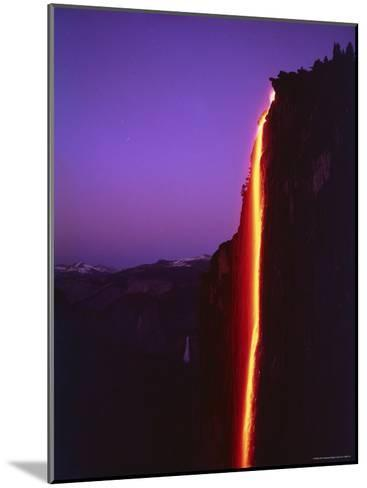 Firefall from Glacier Point at Yosemite National Park-Ralph Crane-Mounted Photographic Print