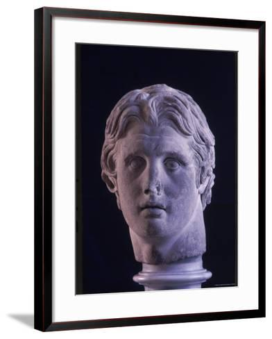 Hellenic Sculpture of Alexander the Great from the Musee D'Antiquities de Stambul-Dmitri Kessel-Framed Art Print