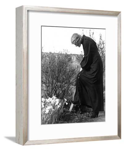 Madame Maud Gonne MacBride Working in Her Garden-John Phillips-Framed Art Print