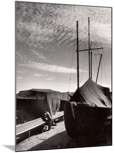 Boatyard on Martha's Vineyard in Winter-Alfred Eisenstaedt-Mounted Photographic Print