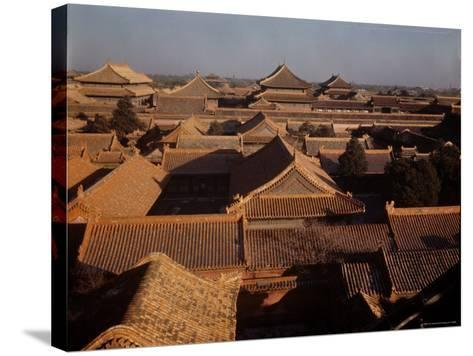 Aerial View of Rooftops in the Forbidden City-Dmitri Kessel-Stretched Canvas Print