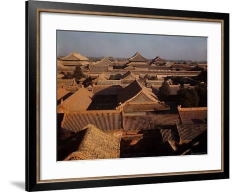 Aerial View of Rooftops in the Forbidden City-Dmitri Kessel-Framed Art Print
