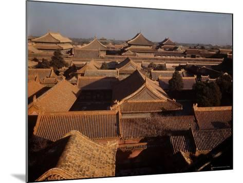 Aerial View of Rooftops in the Forbidden City-Dmitri Kessel-Mounted Photographic Print