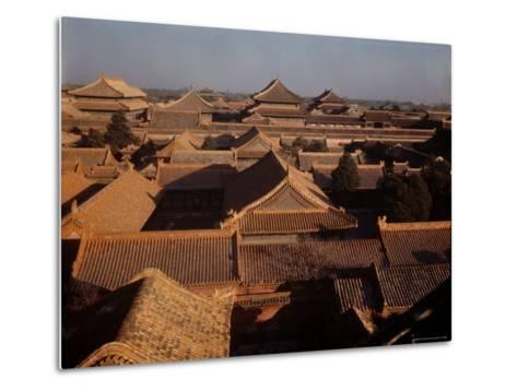 Aerial View of Rooftops in the Forbidden City-Dmitri Kessel-Metal Print