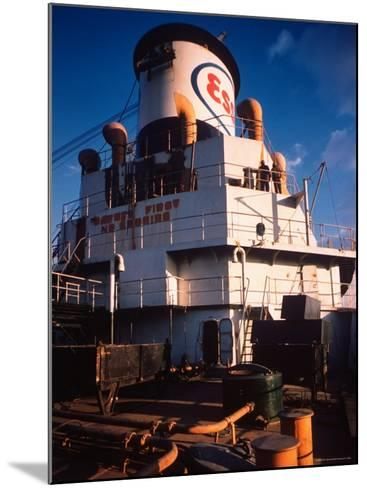 Deck of Esso Oil Tanker Little Rock, Docked at Sun Shipbuilding and Dry Dock Co. Shipyards-Dmitri Kessel-Mounted Photographic Print
