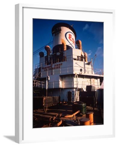 Deck of Esso Oil Tanker Little Rock, Docked at Sun Shipbuilding and Dry Dock Co. Shipyards-Dmitri Kessel-Framed Art Print
