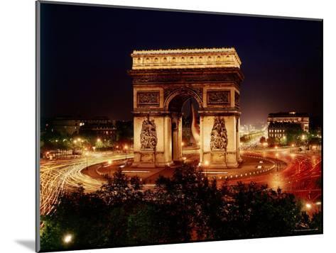 Arc de Triomphe in Place de L'Etoile at Night-Eliot Elisofon-Mounted Photographic Print