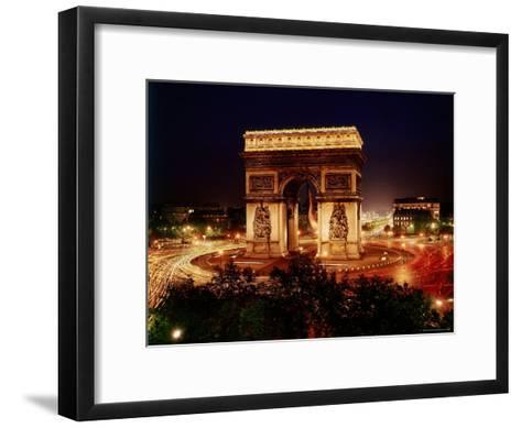 Arc de Triomphe in Place de L'Etoile at Night-Eliot Elisofon-Framed Art Print