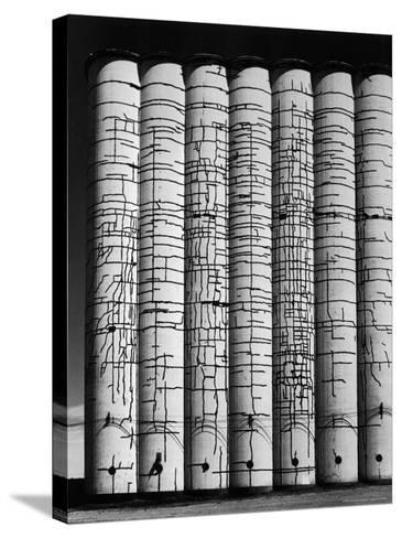Grain Elevator-Andreas Feininger-Stretched Canvas Print