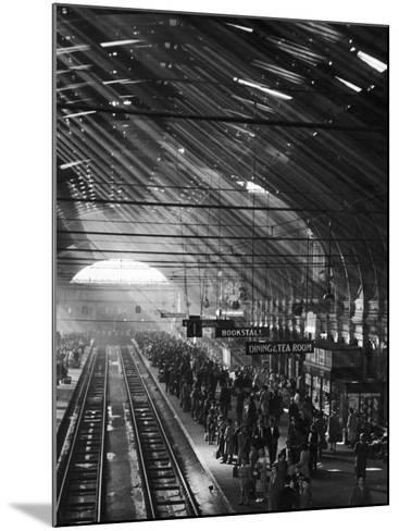 Interior of a London Railroad Station--Mounted Photographic Print