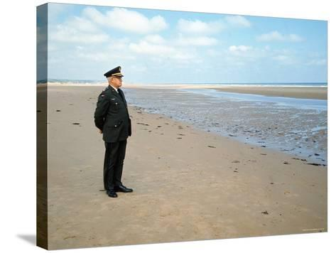 Visiting Normandy For 25th Anniversary D-Day Celebrations is Retired American General Omar Bradley-Bill Ray-Stretched Canvas Print