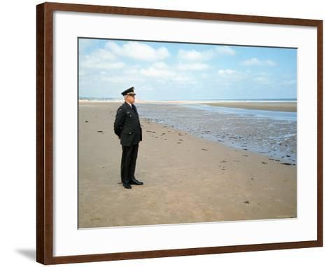 Visiting Normandy For 25th Anniversary D-Day Celebrations is Retired American General Omar Bradley-Bill Ray-Framed Art Print