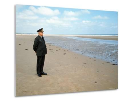 Visiting Normandy For 25th Anniversary D-Day Celebrations is Retired American General Omar Bradley-Bill Ray-Metal Print