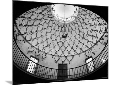 Deer Antlers Hanging in Domed Ceiling of Gordon Castle-William Sumits-Mounted Photographic Print