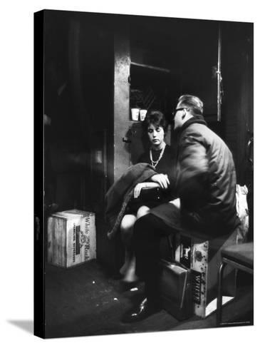 Commuters on the New York New Haven Line Riding in Baggage Car During Evening Rush Hour-Alfred Eisenstaedt-Stretched Canvas Print