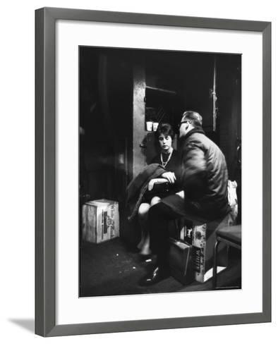 Commuters on the New York New Haven Line Riding in Baggage Car During Evening Rush Hour-Alfred Eisenstaedt-Framed Art Print