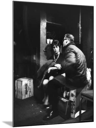 Commuters on the New York New Haven Line Riding in Baggage Car During Evening Rush Hour-Alfred Eisenstaedt-Mounted Photographic Print